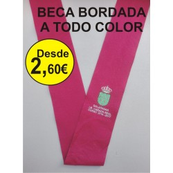 BECA BORDADA  a todo color