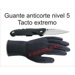 Guante anti corte super tacto