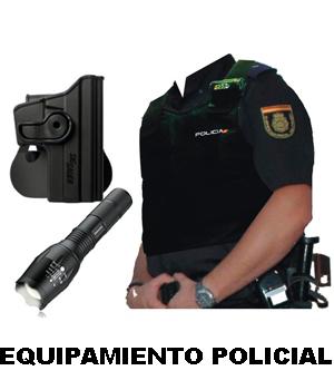 Equipamiento Policial. Cinturón. Funda chaleco antibalas.