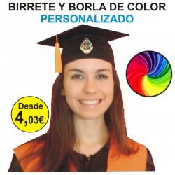 Birrete Color con Borla de...